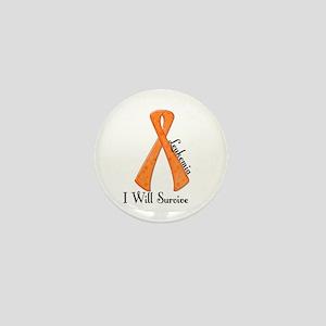 I Will Survive LEUKEMIA Mini Button