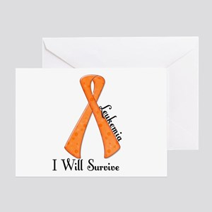 I Will Survive LEUKEMIA Greeting Card