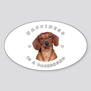 Happiness is a Dachshund! Oval Sticker