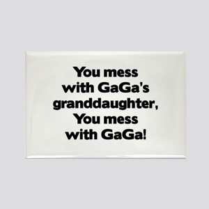 Don't Mess with GaGa's Granddaughter Rectangle Mag