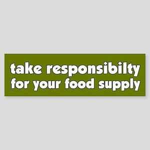Food Supply Bumper Sticker