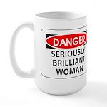 Seriously Brilliant Woman Large Mug