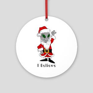 Alien Santa Ornament (Round)