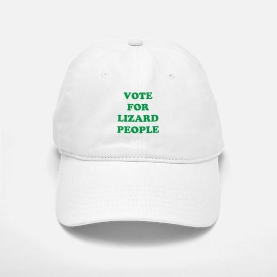 VOTE FOR LIZARD PEOPLE Baseball Baseball Cap