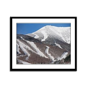 Snow Covered Whiteface Mountain Framed Panel Print