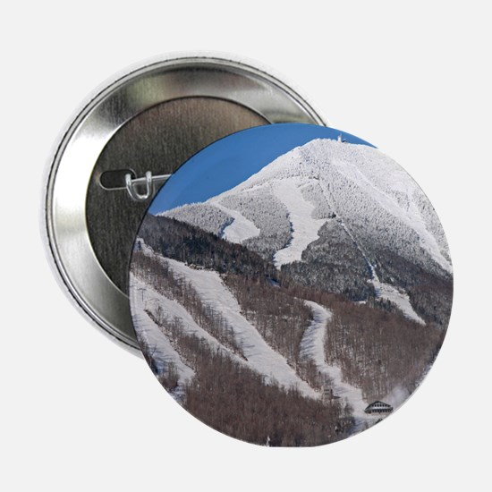"""Snow Covered Whiteface Mountain 2.25"""" Button"""