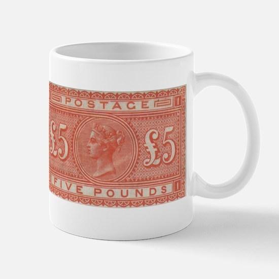 QV Five Pounds Orange Mug