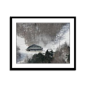 Whiteface Ski Lodge Framed Panel Print