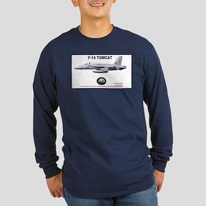 Tomcat! F-14 Long Sleeve Dark T-Shirt