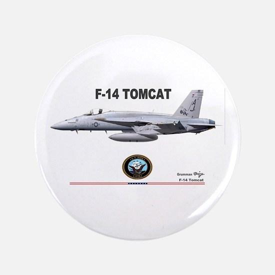 """Tomcat! F-14 3.5"""" Button"""