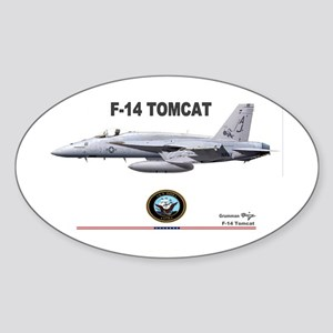 Tomcat! F-14 Oval Sticker