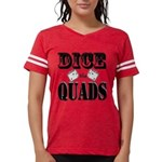 Bodybuilding Dice the Quads Womens Football Shirt