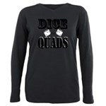 Bodybuilding Dice the Qu Plus Size Long Sleeve Tee