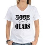 Bodybuilding Dice the Quads Women's V-Neck T-Shirt