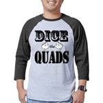 Bodybuilding Dice the Quads Mens Baseball Tee