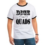 Bodybuilding Dice the Quads Ringer T