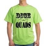Bodybuilding Dice the Quads Green T-Shirt