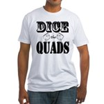 Bodybuilding Dice the Quads Fitted T-Shirt