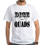 Bodybuilding Dice the Quads Men's Classic T-Shirts