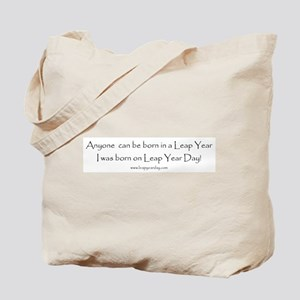 Anyone can be born in Leap Ye Tote Bag