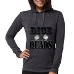 Bodybuilding Dice the Quads Womens Hooded Shirt
