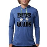 Bodybuilding Dice the Quads Mens Hooded Shirt