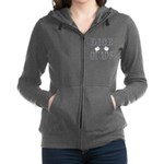 Bodybuilding Dice the Quads Women's Zip Hoodie