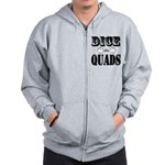 Bodybuilding Dice the Quads Zip Hoodie