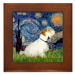 Starry Night/Sealyham L1 Framed Tile