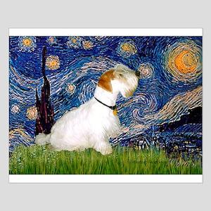 Starry Night/Sealyham L1 Small Poster