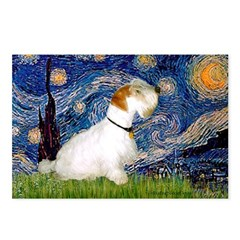 Starry Night/Sealyham L1 Postcards (Package of 8)
