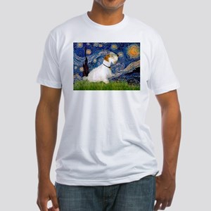Starry Night/Sealyham L1 Fitted T-Shirt