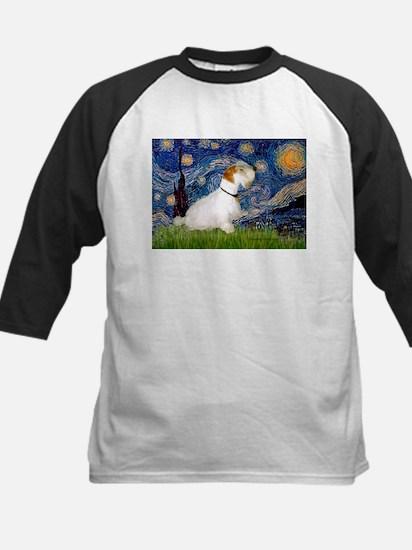 Starry Night/Sealyham L1 Kids Baseball Jersey