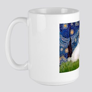 Starry Night/Sealyham L1 Large Mug