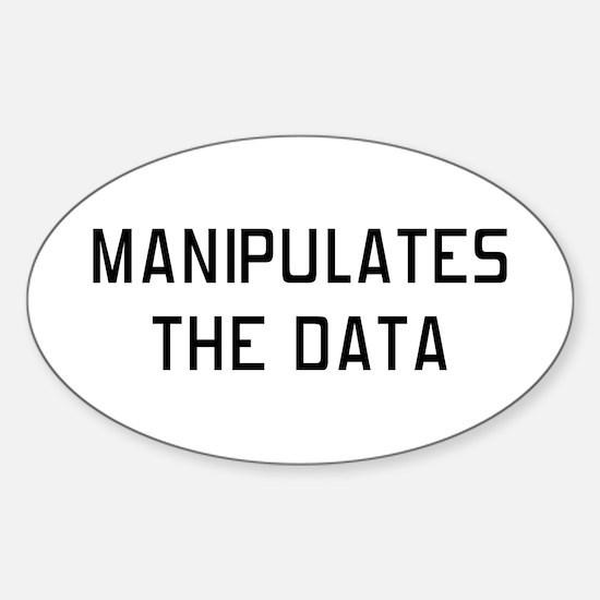 Manipulates Data Sticker (Oval)