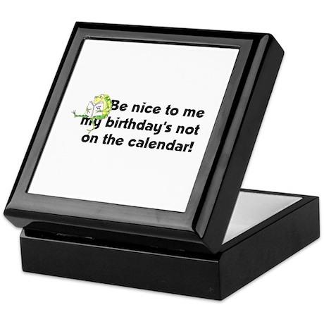 My Birthday's Not... Keepsake Box