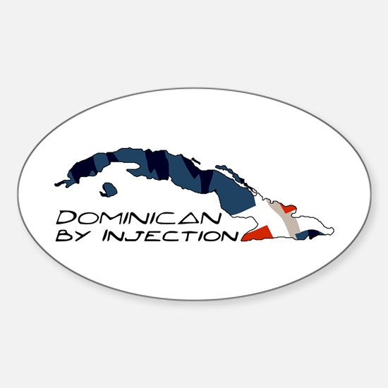 Dominican By Injection-D3 Oval Decal