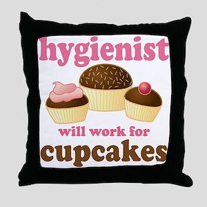 Chocolate Cupcake Hygienist Throw Pillow