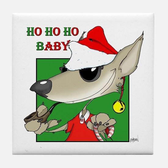 Ho Ho Ho Baby / Wolf Tile Coaster