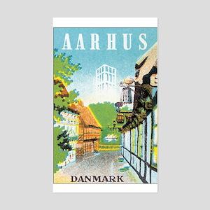 Aarhus Danmark Rectangle Sticker