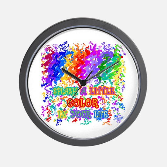 Splash Color in Your Life Wall Clock