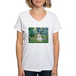 Bridge/Sealyham L2 Women's V-Neck T-Shirt