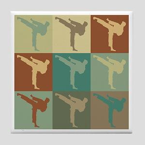 Martial Arts Pop Art Tile Coaster