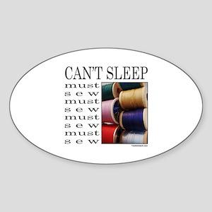 SEW/SEWING Oval Sticker