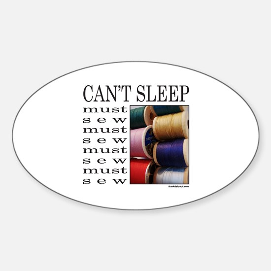 SEW/SEWING Oval Decal
