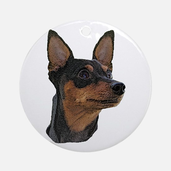 Miniature Pinscher Ornament (Round)