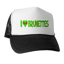 I Love-Alien Brunettes Trucker Hat