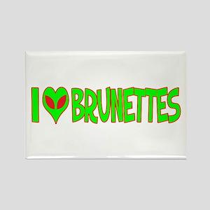 I Love-Alien Brunettes Rectangle Magnet
