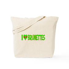 I Love-Alien Brunettes Tote Bag