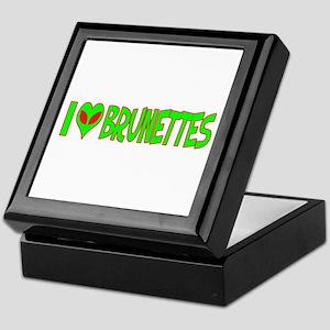 I Love-Alien Brunettes Keepsake Box